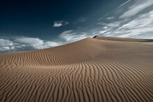 Cadiz Dunes During Sunset At Mojave Desert, Southern California, USA