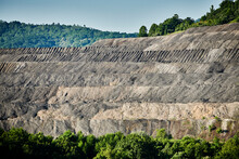 Aerial View Of Quarry In Appalachian Forest