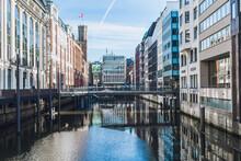 Germany, Hamburg,Bridge Over Bleichenfleet Canal