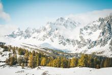 Prima Neve Autunnale All'Alpe Devero, Italia
