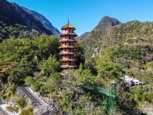 Taiwan, Hualien County, Taroko National Park, Tianfeng Pagoda And Tianxiang Recreational Area