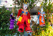 Myanmar, Mon State, Kyaiktiyo Pagoda, Puppets For Sale