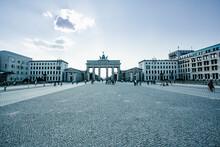 Germany, Berlin, Pariser Platz WithBrandenburg Gate In Background