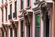 USA, New York State, New York City, Brooklyn, Facade Of Townhouses