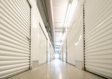 Row Of Self Storage Units