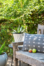 Outdoor Garden Bench And Sitting Area