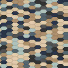 The Seamless Colorful Beehive Patterns