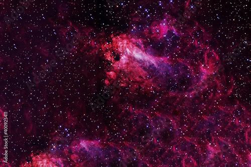 Fotomural Red galaxy in deep space