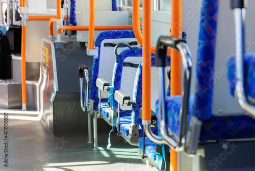 バスの車内 Fototapet