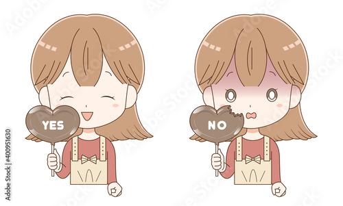 Fotografia, Obraz チョコレートを手に持った女の子3