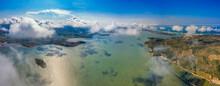 Aerial View Of O Loan Lagoon In Phu Yen, Vietnam.