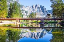 The Rock-monolith El Capitan And Bridge