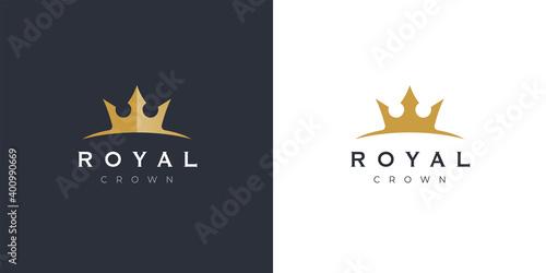 Premium style elegant gold crown logo symbol Wallpaper Mural