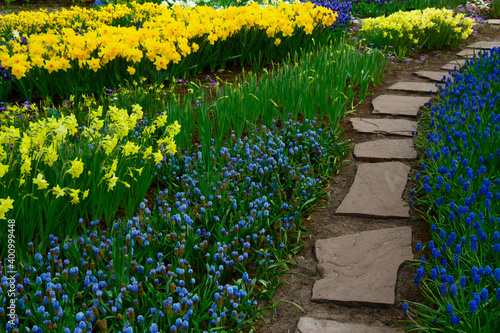 Obraz na plátně Formal spring garden