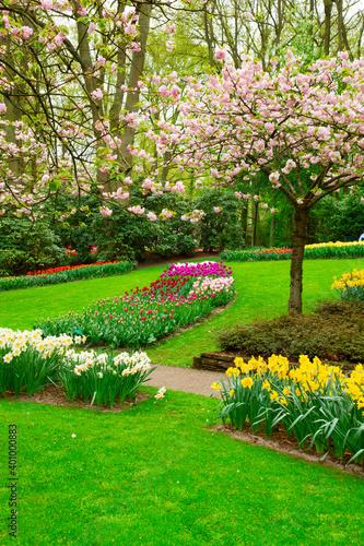 Fotografie, Obraz Formal spring garden