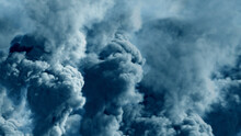 Abstract 3D Illustration - Colorful Background Of Dense Smoke, Pollution Concept