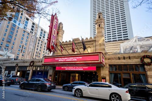 Photo of the Fox theater downtown Atlanta Georgia