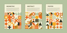Modern Poster Design. Geometric Art. Neo Geo Style.
