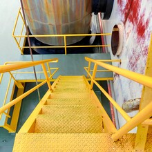 Yellow Stairs In The Ship