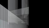 Concept of modern architecture building 3d illustration