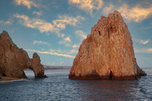 Sun Setting Over The Sea Of Cortez At Lands End