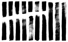 Wide Brush Stroke Textures. 17 Detailed Paint Brush Textures Taken From High Res Scans