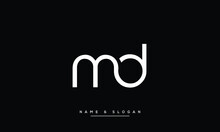 MD ,DM , Abstract Letters Logo Monogram