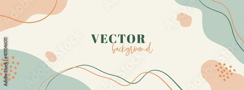 Minimal abstract long banner Fototapet