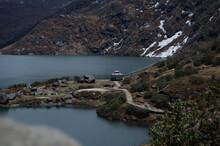 A Gazebo By The Lake In India