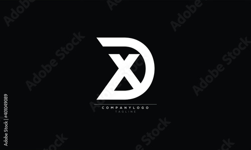 Obraz DX XD Abstract initial monogram letter alphabet logo design - fototapety do salonu