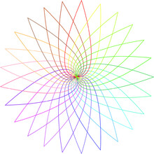 Mandala With The Colors Of The Rainbow. Abstract Geometry With Varied Vivid Colors. Background Mandala