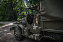 Detail Of An Old Army Car For The Transport Of A Soldier
