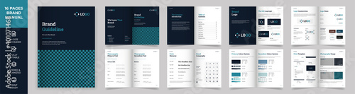 Fototapeta Brand Manual Template, Simple style and modern layout Brand Style , Brand Book,