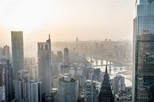 Horizon Ville Fototapeta