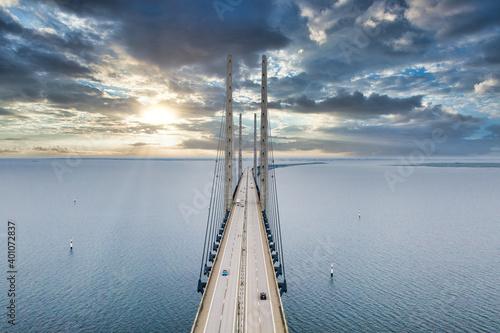 Fototapeta The bridge between Denmark and Sweden, Oresundsbron