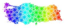 Spectrum Gradient Frost Mosaic Turkey Map From Snow