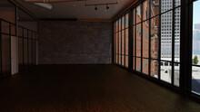 テレビ会議背景用 ZOOM会議背景用 CG オフィスビル Video Conferencing Background
