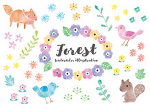 森の動物イラスト