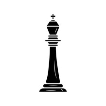 Black King Chess Piece Isolated Style Icon
