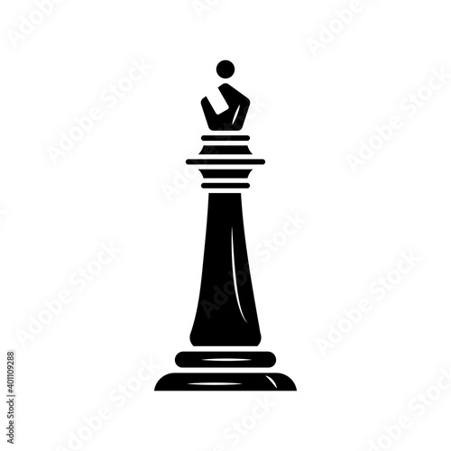 Canvas black bishop chess piece isolated style icon