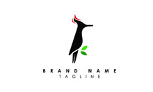 Abstract Woodpecker Logo Design Template