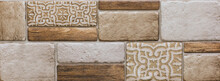 Digital Wall Tiles And Background Vintage Wallpaper Gometical Design