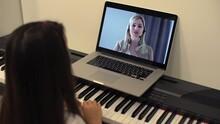 Christmas Time, Laptop On Piano Keys
