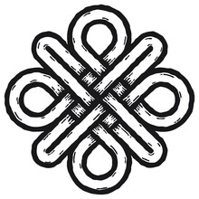Celtic Symbol. Symbol Made With Celtic Knots To Use In Designs For St. Patrick's Day.