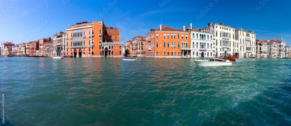 Fototapeta Venice. Panorama of the Grand Canal.