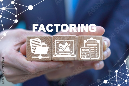 Foto Business concept of factoring