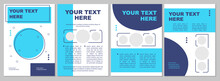 Modern Creative Brochure Template With Blue Round Sections. Flyer, Booklet, Leaflet Print, Cover Design With Text Space. Vector Layouts For Magazines, Annual Reports, Advertising Posters