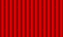 Vector Seamless Pattern Of Red Wavy Slate. Galvanized Iron Sheet. Colored Corrugated Metal Roofing Sheet Texture Background. Metal Roof, Metal Siding, Profiled Sheeting For Covering Or Fencing.