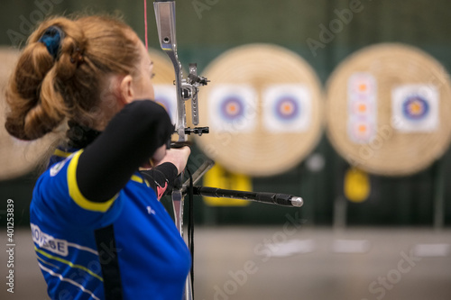 indoor archery competition Fototapet