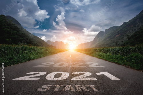 Fotografía 2021, The New Year 2021 or the beginning of the concept of the word 2021 is writ
